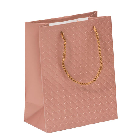 Lady Brigitte Medium Rose Gold Gift Bag, Pack 40 (80p each)