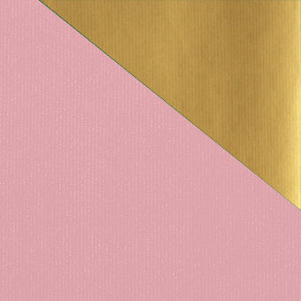 Kraft Colours Gift Wrap Sheets - Pink/Gold Double-sided (250)