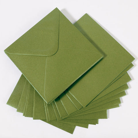Pearlescent Envelopes Square Pistachio, Pack 1000