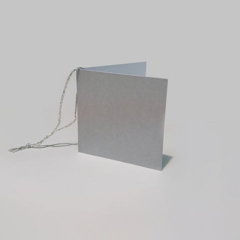 Plain Square Matt Silver Gift Tags (50)