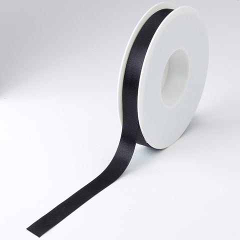 Plain Satin Black Ribbon
