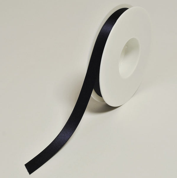 Plain Satin Navy Ribbon