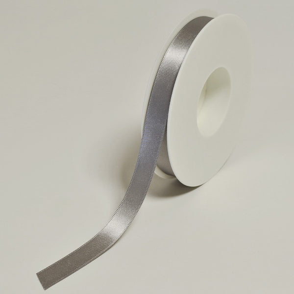 Plain Satin Silver Ribbon