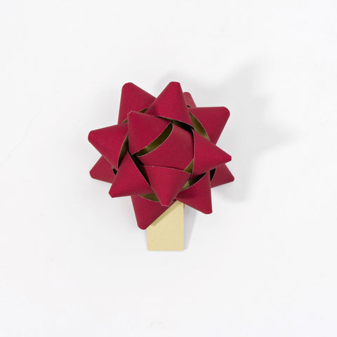 Recycled Bows - Deep Red (Pack 50) Double sided