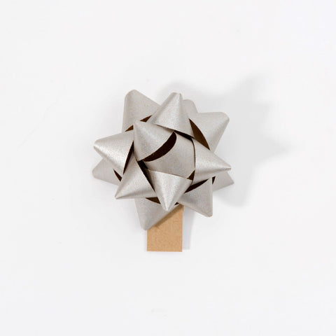 Recycled Bows - Silver (Pack 50) Single sided
