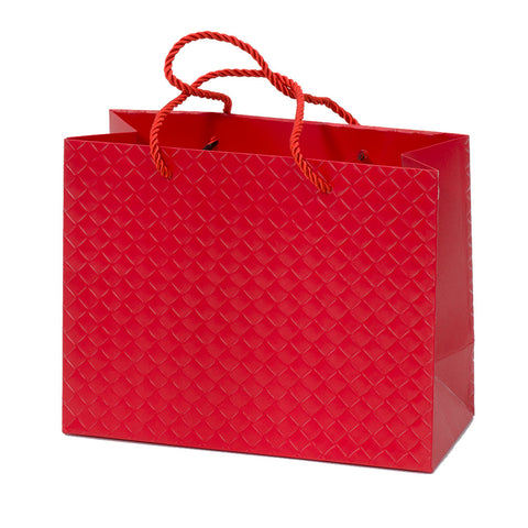 Lady Brigitte Small Red Boutique Bag, Pack 40 (57p each)