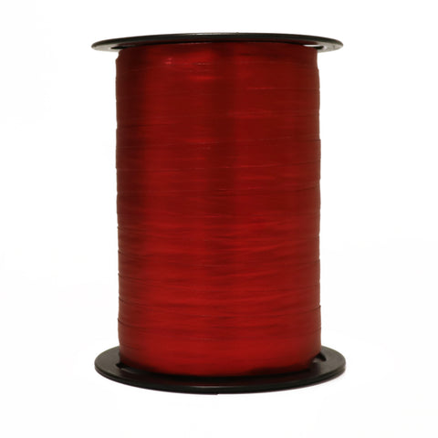 Satin Red Curling Ribbon (7mm x 250m)
