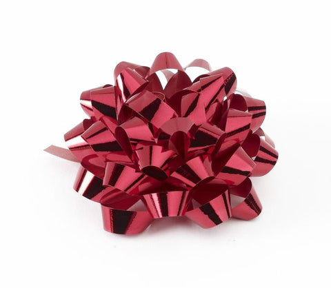 Metallic Red Confetti Bows (50)