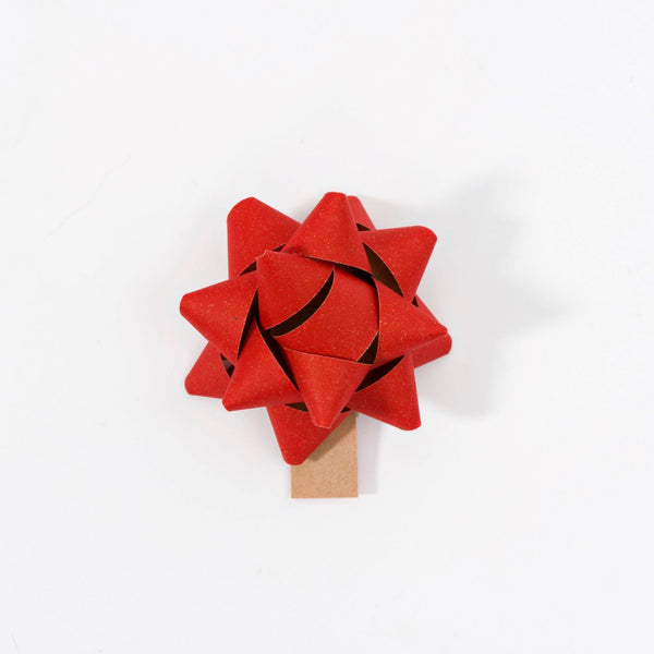 Recycled Bows - Red (Pack 50) Single sided