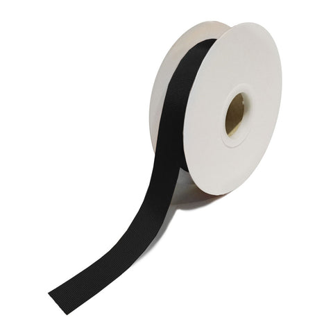 Grosgrain Black Ribbon (25mm x 25m)