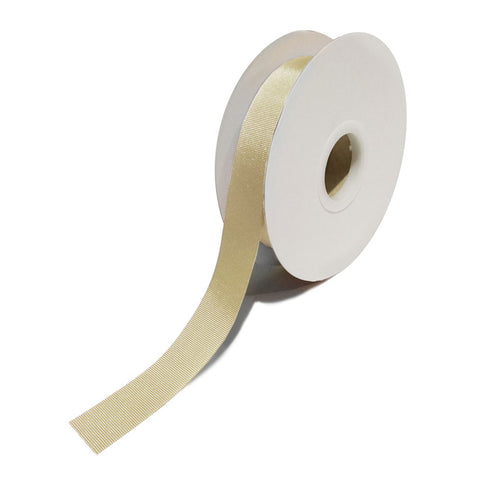 Grosgrain Cream Ribbon (25mm x 25m)