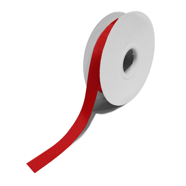 Grosgrain Red Ribbon (15mm x 25m)