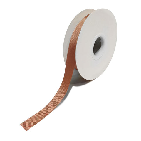 Grosgrain Rose Gold Ribbon (15mm x 25m)