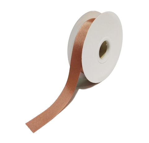Grosgrain Rose Gold Ribbon (25mm x 25m)