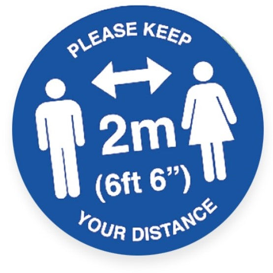 Self Distancing Floor Stickers - Suitable for Carpet