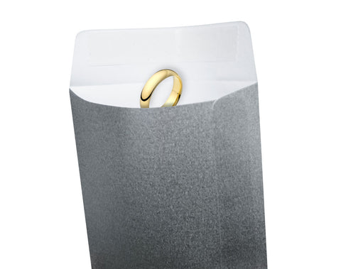 Jewellery Envelopes, Silver, Pack 100 (24p each)