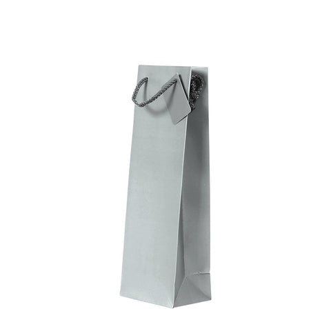 Plain Matt Silver Bottle Bag