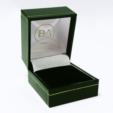 Regent Ring box, Green with gold trim