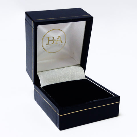 Regent Ring box, Navy with gold trim