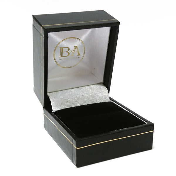 Regent Ring box, Black with gold trim