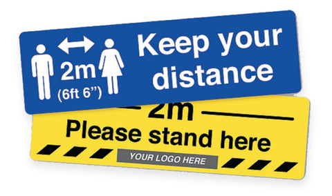 Social Distancing Floor Stickers - Suitable for Carpet