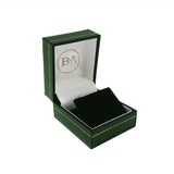 Regent Stud Earring box, Green with gold trim