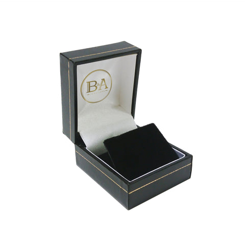 Regent Stud Earring box, Black with gold trim