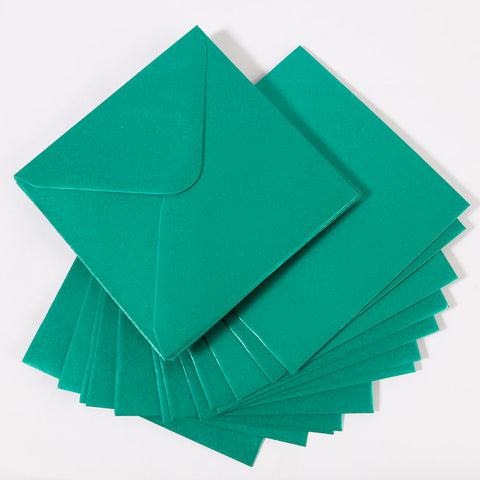 Pearlescent Envelopes Square Teal, Pack 1000