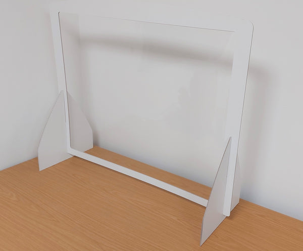 Eco-friendly Recyclable Desk Counter Screen White