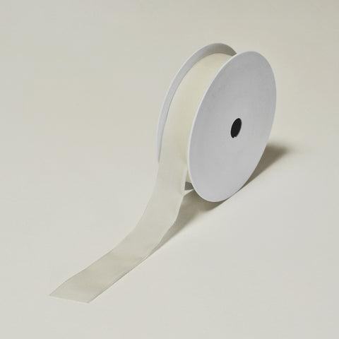 Biodegradable Tencel Ribbon - White