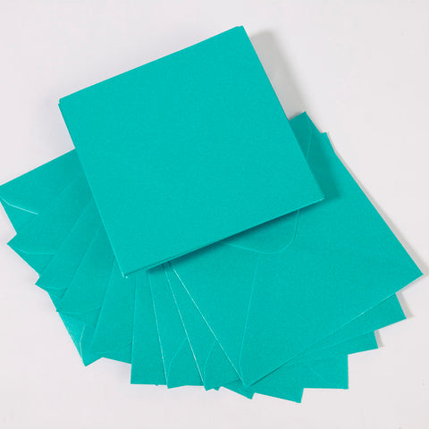 Pearlescent Envelopes Square Turquoise, Pack 1000