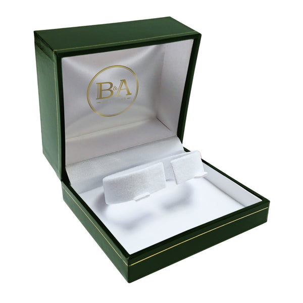 Regent Watch/Bangle box, Green with gold trim