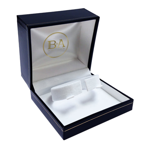 Regent Watch/Bangle box, Navy with gold trim