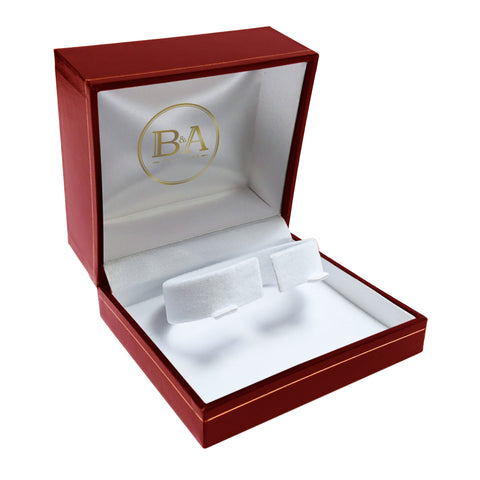Regent Watch/Bangle box, Red with gold trim