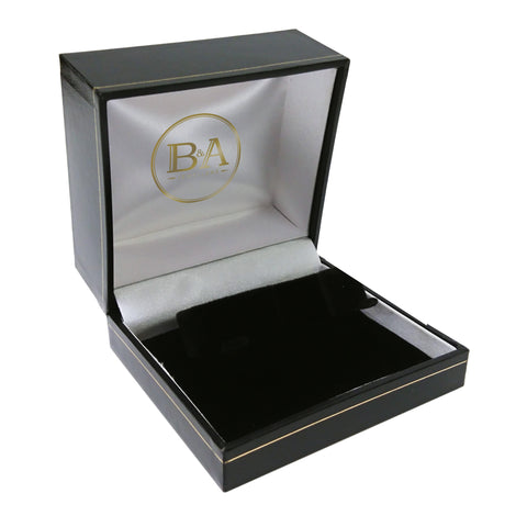 Regent Watch/Bangle box, Black with gold trim