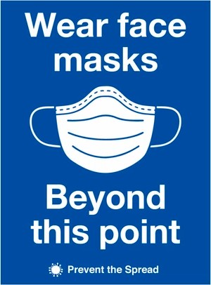 Wear Face Masks Sign