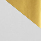 Kraft Colours Gift Wrap Sheets - White/Gold Double-sided (250)