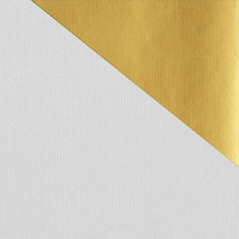 White/Gold Double-sided Kraft Colours Counter Roll
