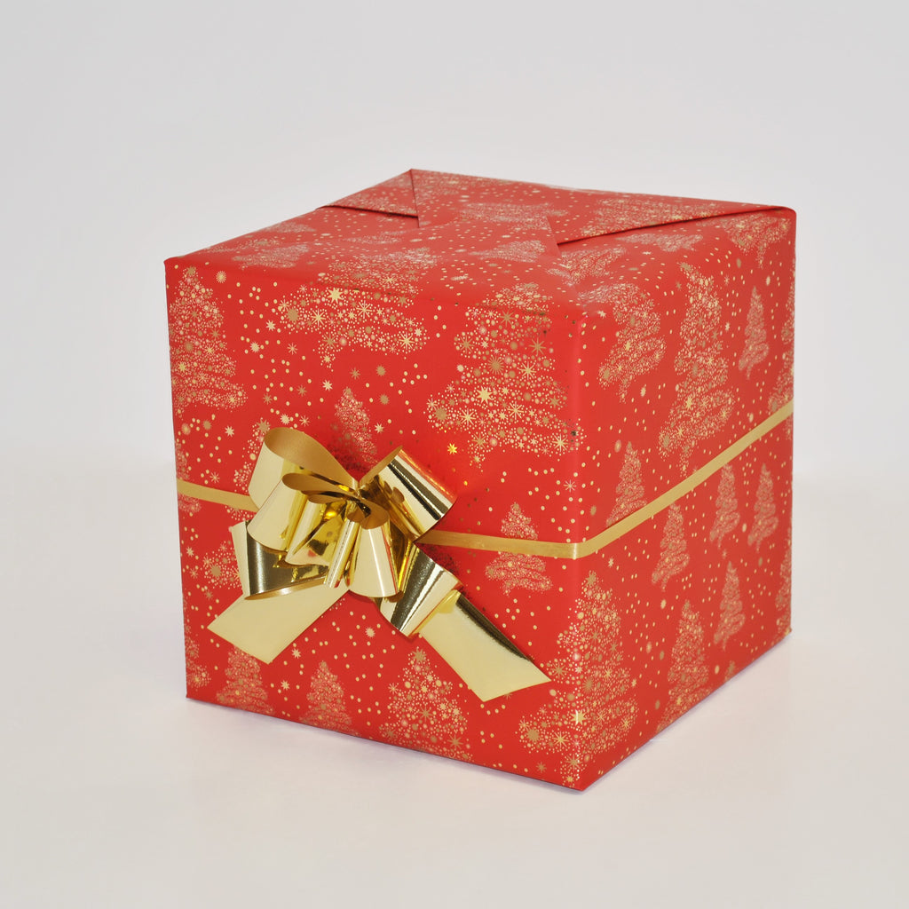 Christmas Counter.Winter Wonderland Red Christmas Counter Roll 100m X 50cm