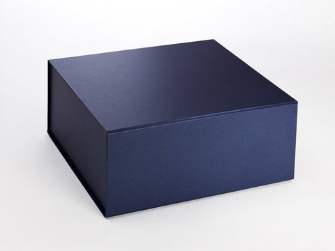 XL Deep Pearlescent Navy Luxury Gift box with magnetic closure (Pack of 12)