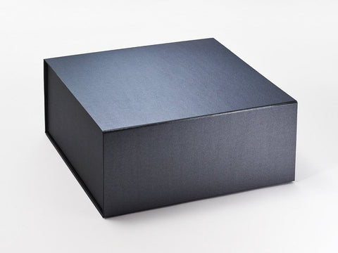 XL Deep Pearlescent Pewter Luxury Gift box with magnetic closure (Pack of 12)