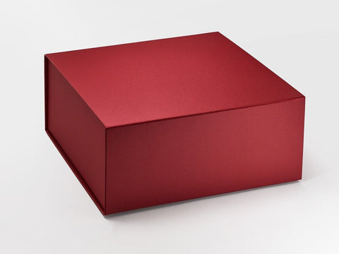 XL Deep Pearlescent Red Luxury Gift box with magnetic closure (Pack of 12)