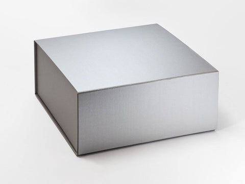 XL Deep Pearlescent Silver Luxury Gift box with magnetic closure (Pack of 12)