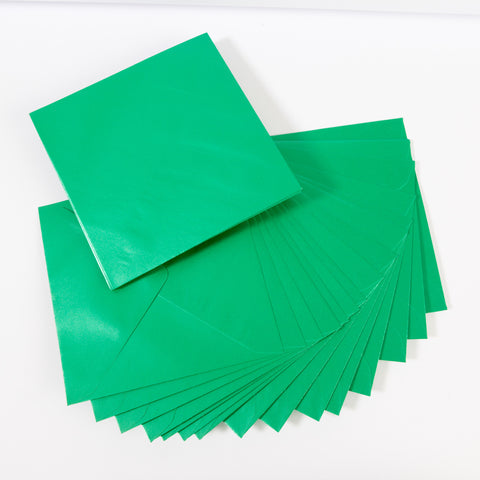 Pearlescent Envelopes Square Xmas Green, Pack 1000
