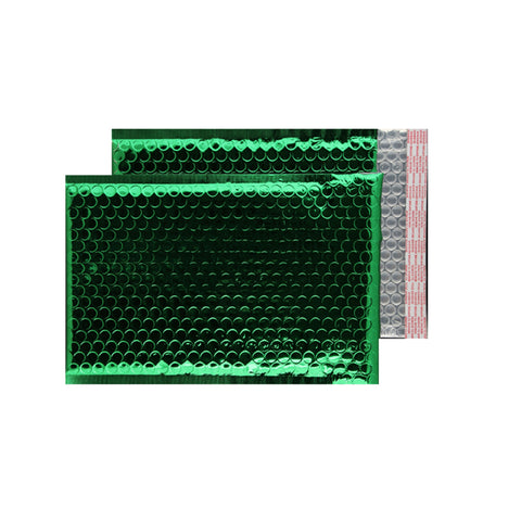 Glitzy Green Metallic Jiffy Bags (250mm x180mm - pack 100)