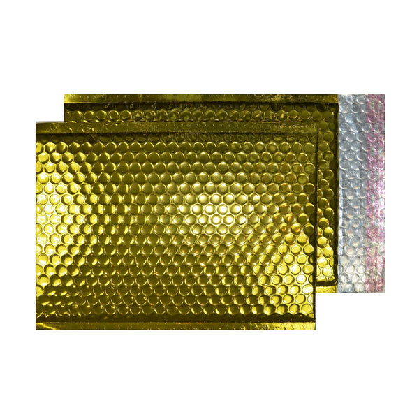 Glitzy Rich Gold Metallic Jiffy Bags (250mm x180mm - pack 100)