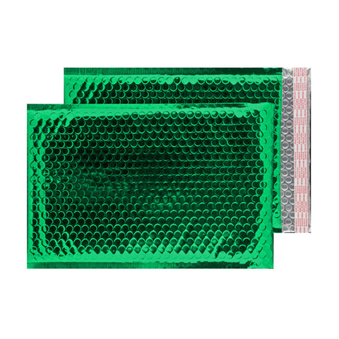 Glitzy Green Metallic Jiffy Bags (324mm x 230mm - pack 100)