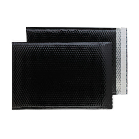 Glitzy Glossy Black Metallic Jiffy Bags (450mm x 324mm - pack 50)