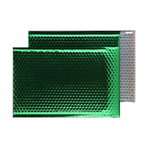 Glitzy Green Metallic Jiffy Bags (450mm x 324mm - pack 50)