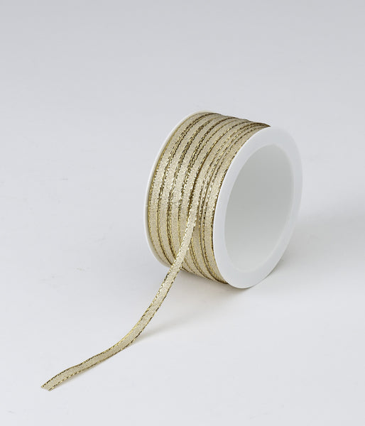 Gold Woven Ribbon (5mm x 50m)